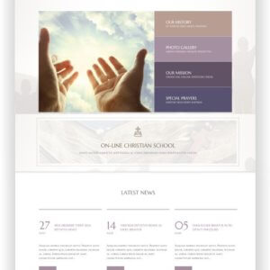 WordPress Jesus Church Thema