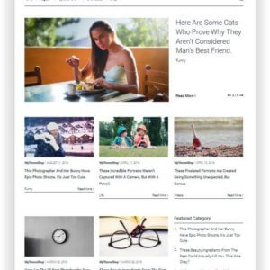 WordPress minimal Magazin Thema