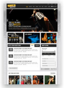 HTML Music Band Template