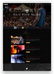 Hard Rock Music Template