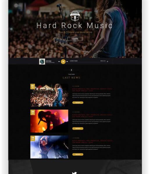 Hard Rock Music Template