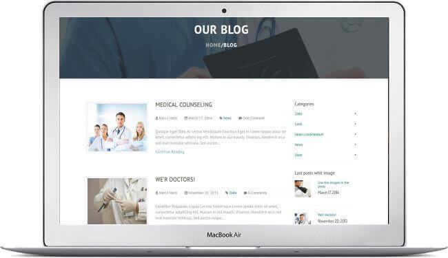 HTML Gesundheits Template - Für Arzt, Krankenhaus, Reha-Klinik...