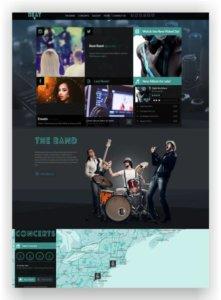 HTML Musik Band Template Beat