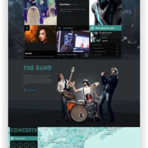 HTML Musik Band Template Beat