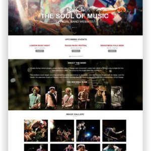 HTML5 Musik Band Template