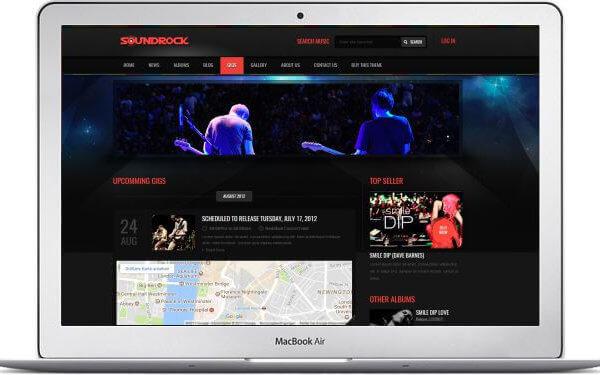 HTML Music Thema