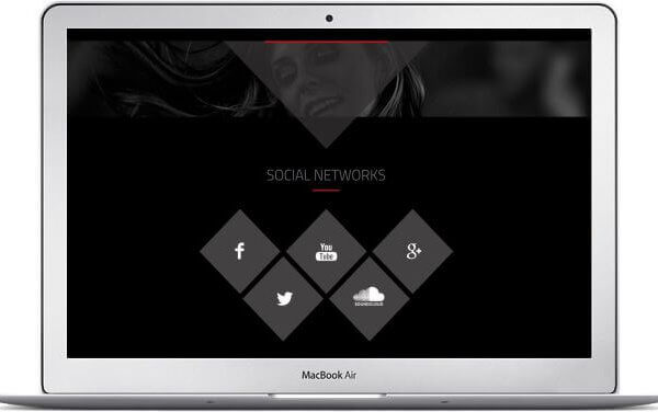 HTML Musik Landing Page Template