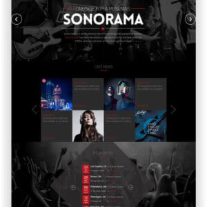HTML Musik Landing Page Template