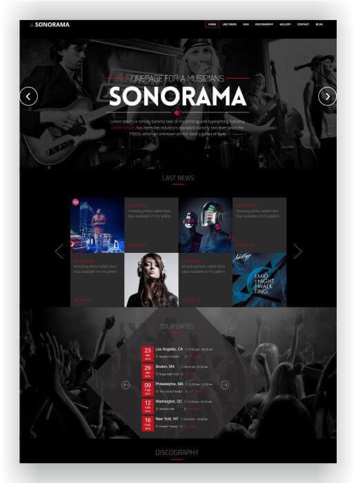 12+ HTML Musik Templates - Für Bands, Musiker, DJ´s, Studio und mehr!
