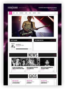 HTML5 Template für Musiker