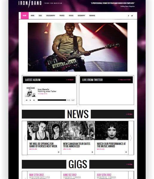 HTML5 Template für Musiker \