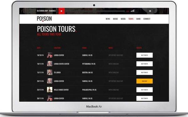 HTML Band Webseiten Template