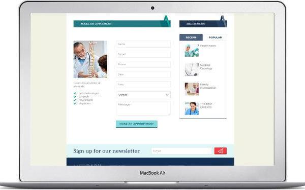 Webseite für Ärztehaus