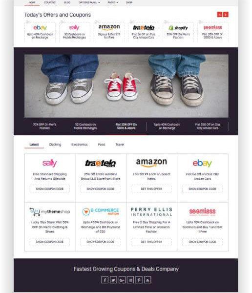Geld verdienen mit einer Gutschein Webseite