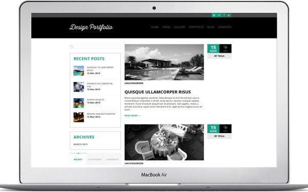 WordPress Design Portfolio Thema