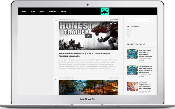 WordPress Gaming Magazin Thema