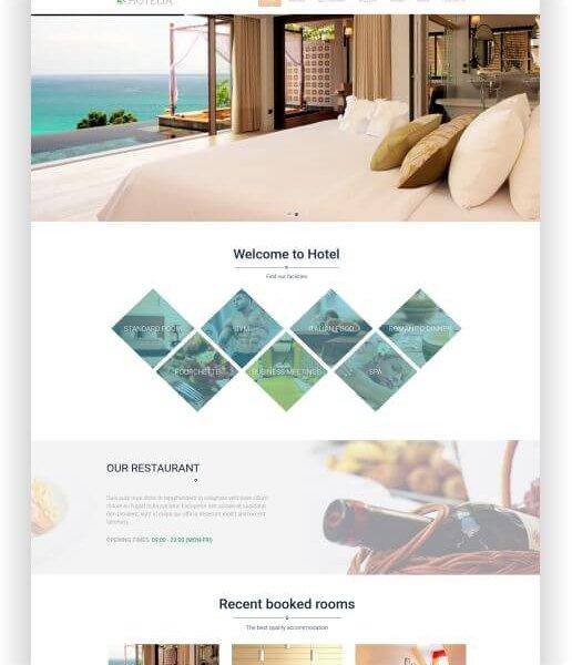 WordPress Thema für Hotel und Restaurant