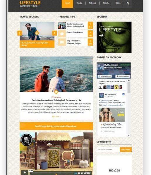 WordPress Lifestyle Magazin Thema