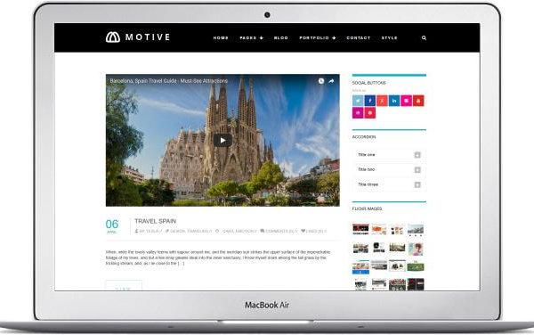 Modernes WordPress Blog Thema Motiv