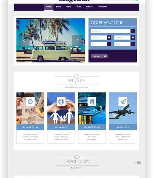 Reisveranstalter Webseite erstellen mit WordPress