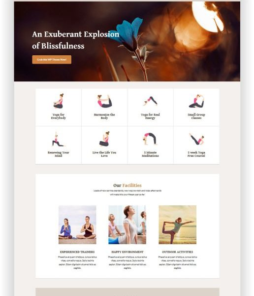 WordPress Yoga Thema