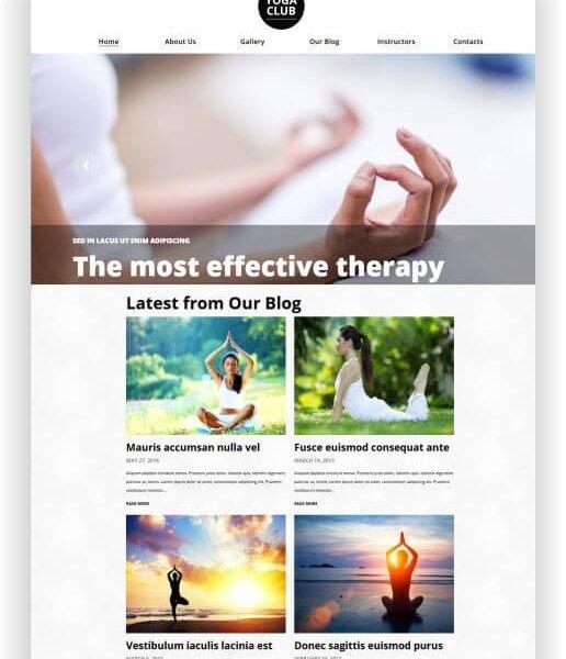 Yoga Webseite WordPress