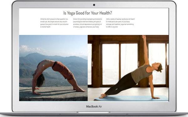 WordPress Yoga Webseite