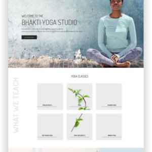 WordPress Yoga Webseite
