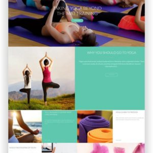 WordPress Sport und Yoga Thema