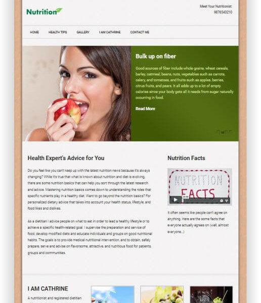 WordPress Diätberatung Thema