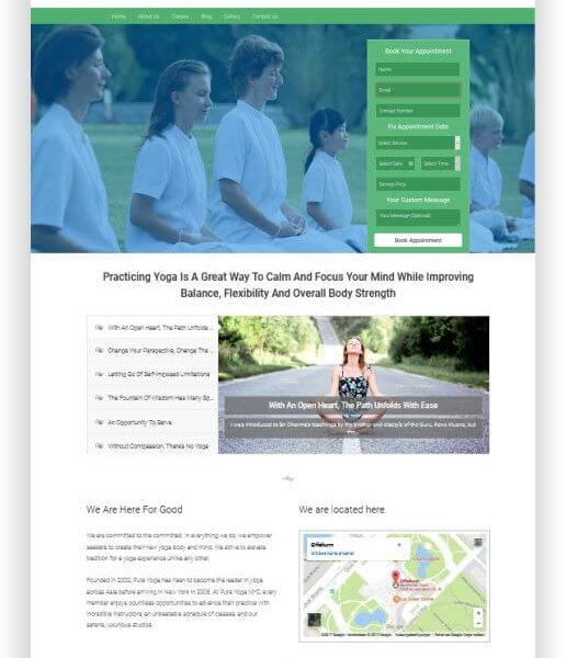 WordPress Thema für Yoga Lehrer