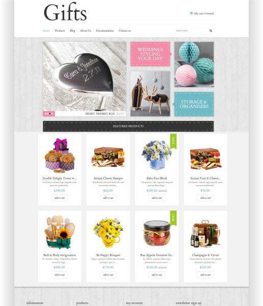 Elegantes Shopify Geschenk Shop Thema