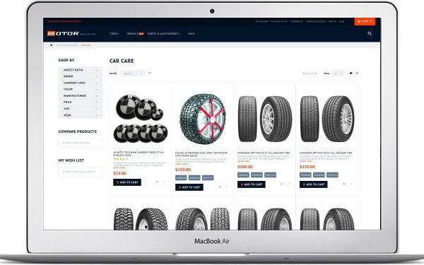 Magento Autoteile Shop Thema