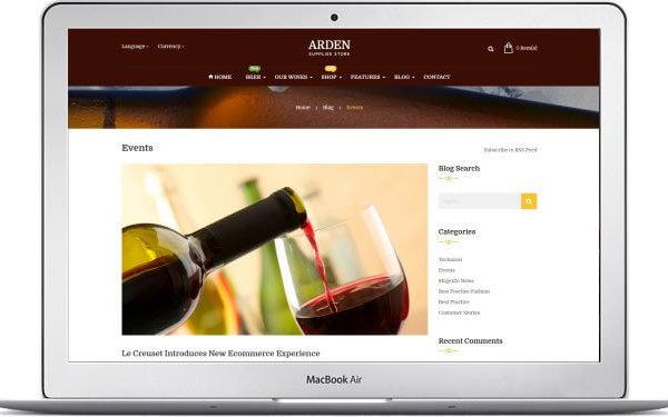 Magento Wein Shop Thema