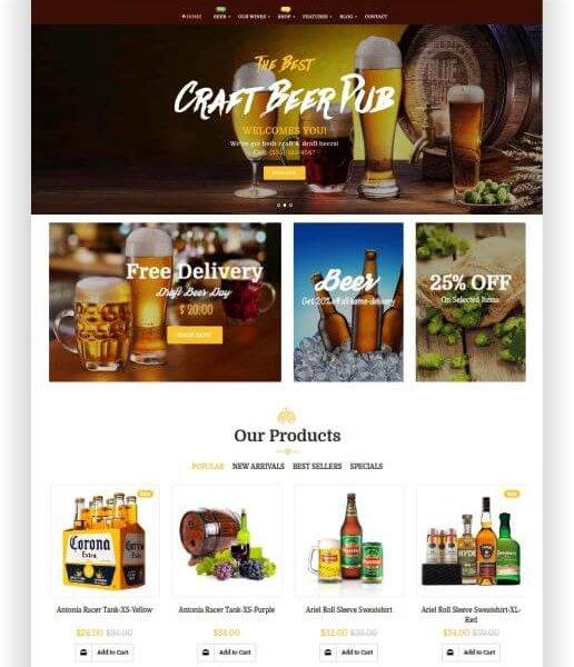 Magento Bier Shop Thema