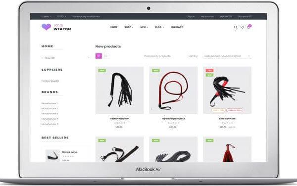 PrestaShop Erotik Shop Thema