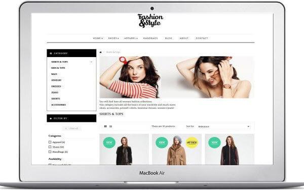PrestaShop Fashion und Style Shop