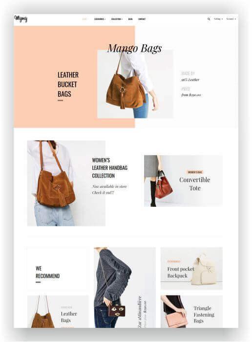 PrestaShop Taschen Onlineshop Thema