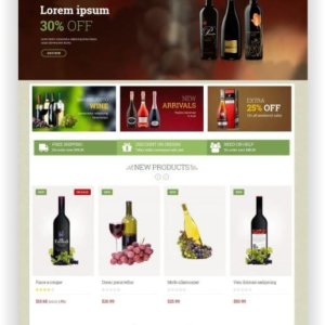 PrestaShop Wein Onlineshop Thema