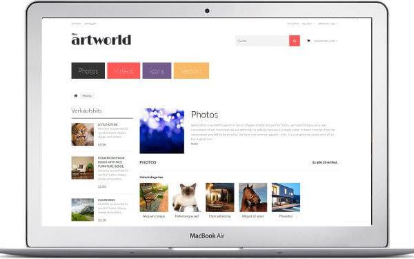 Fotos verkaufen mit PrestaShop