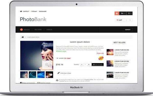 Photo Stock Seite erstellen