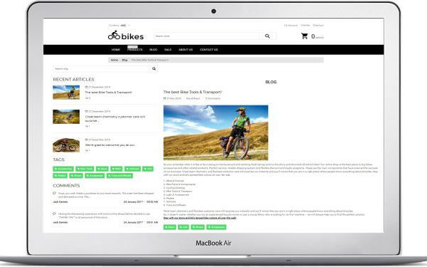 Shopify Fahrrad Shop Thema