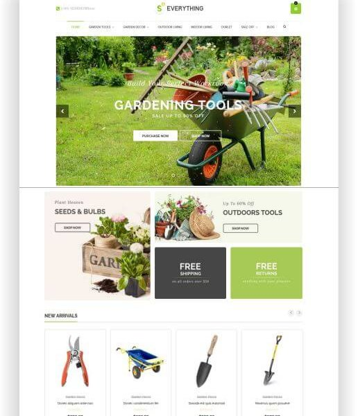 Shopify Garten Shop Thema
