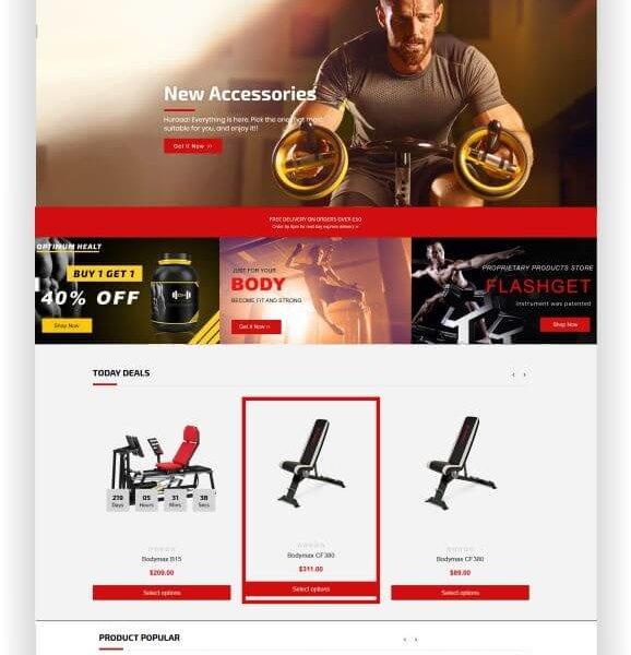 Shopify Gym Shop Thema