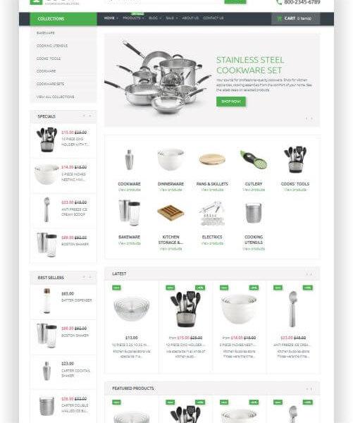 Shopify Küchenthema