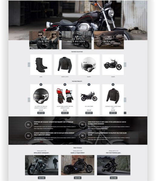Shopify Motorrad Shop Thema