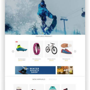 Shopify Wintersport Shop Thema