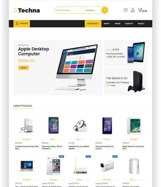 WooCommerce Elektronik Shop Thema