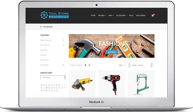 opencart werkzeug shop thema hier zum bestpreis downloaden. Black Bedroom Furniture Sets. Home Design Ideas