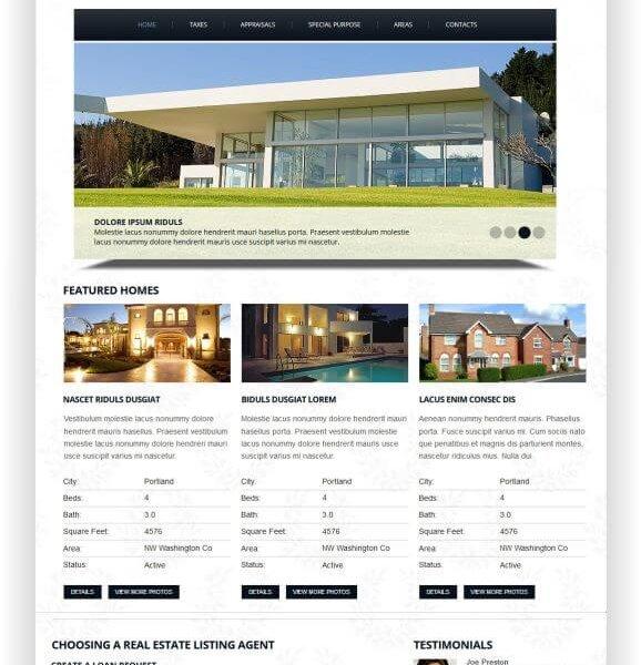 Schnelle Immobilien Webseite